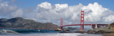 Golden Gate Bridge viewed from Baker Beach
